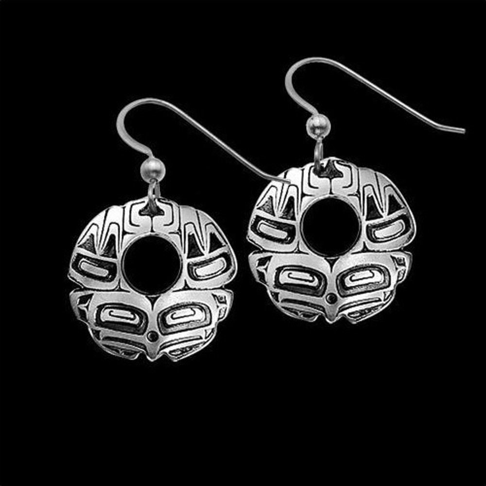 Eagle Round Sterling Silver Earrings |  Metal Arts Group Jewelry | MAG20722-S