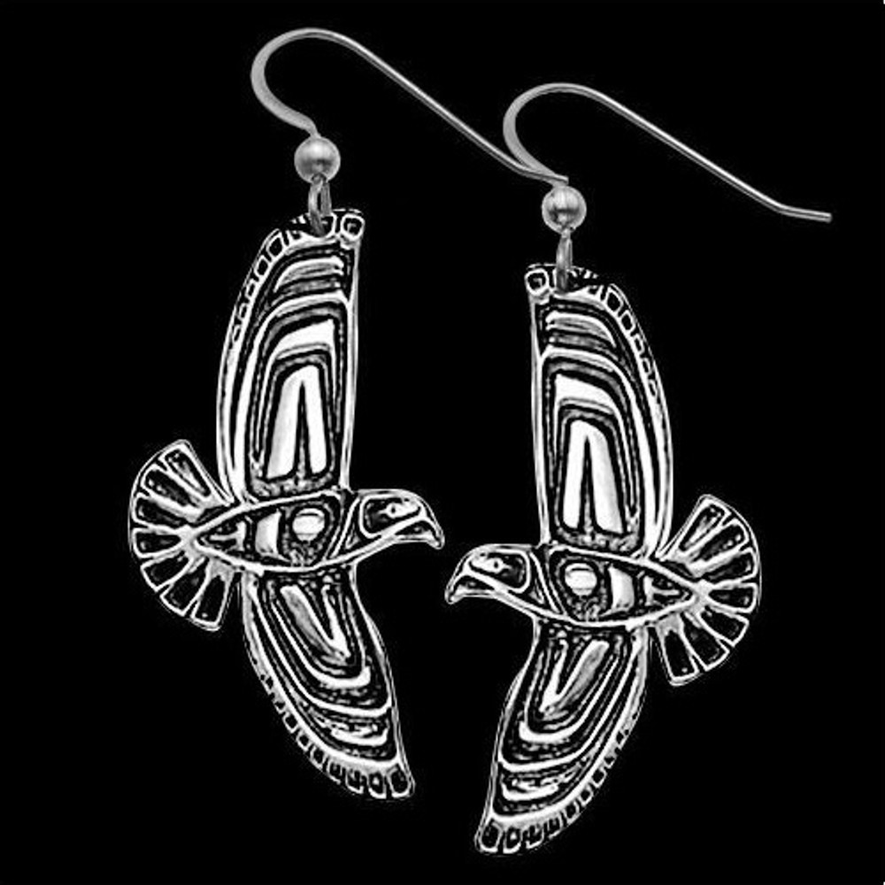 Eagle Soaring Tribal Sterling Silver Earrings |  Metal Arts Group Jewelry | MAG21380-S