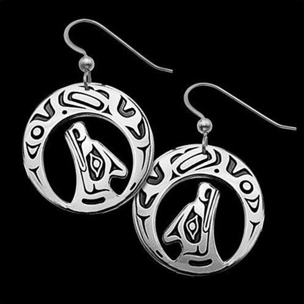 Wolf Earrings Night Song |  Metal Arts Group Jewelry | MAG22068-S