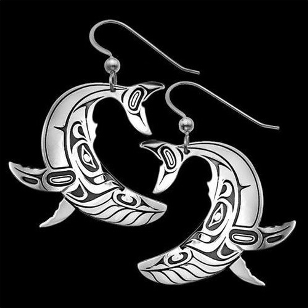 Humpback Whale Sterling Silver Earrings |  Metal Arts Group Jewelry | MAG22071-S