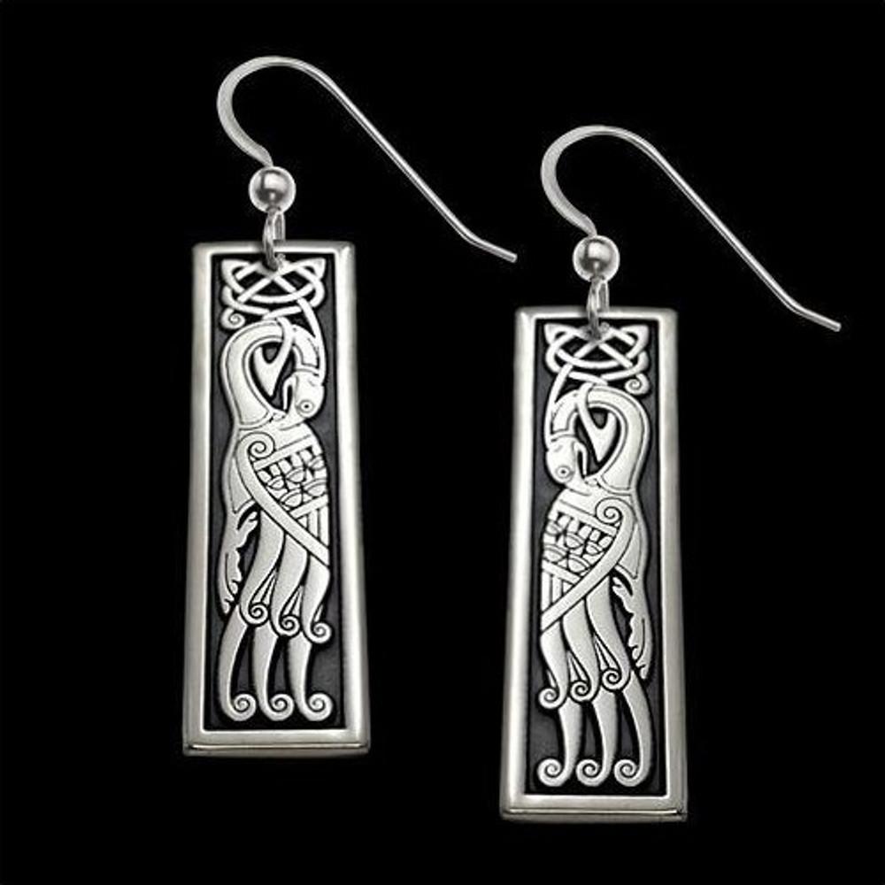 Peacock Celtic Sterling Silver Earrings |  Metal Arts Group Jewelry | MAG23006