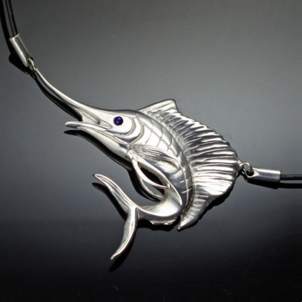 Sailfish Sterling Silver Pendant Necklace