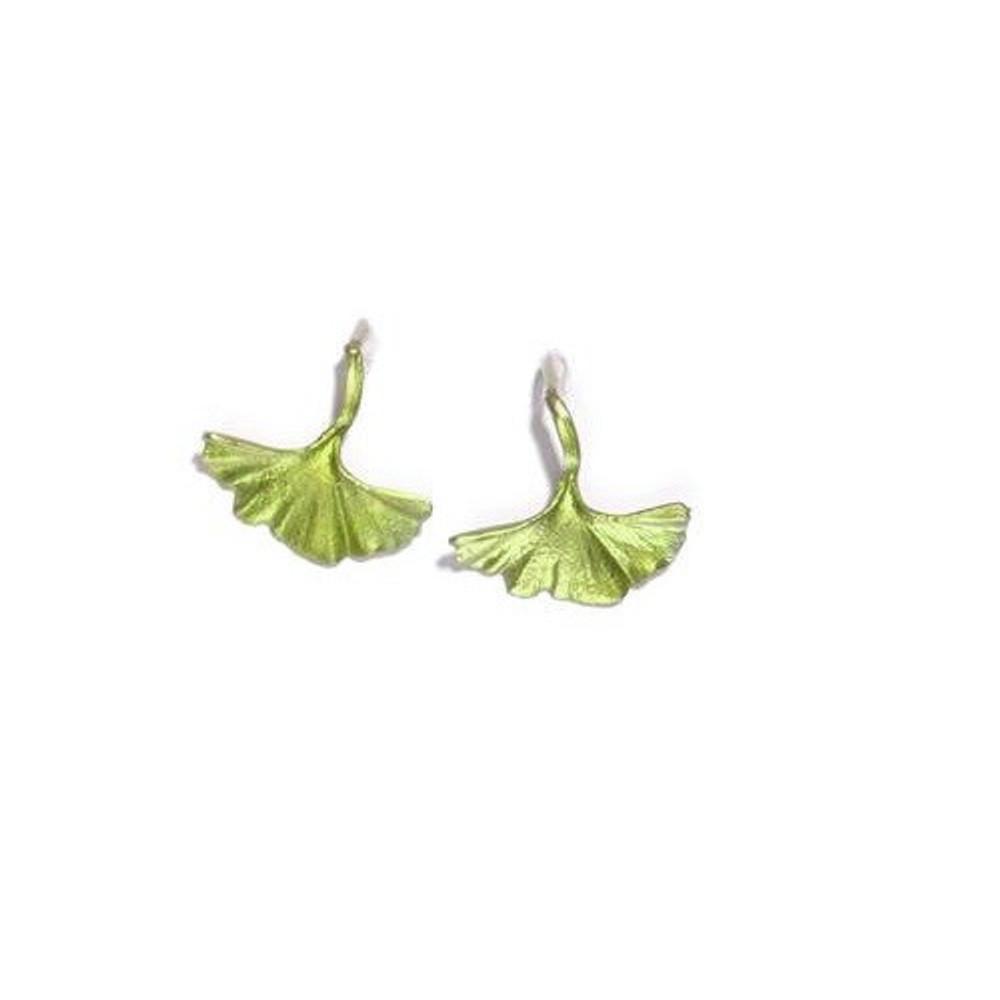 Gingko Hook Earrings | Michael Michaud Jewelry | SS4210bz
