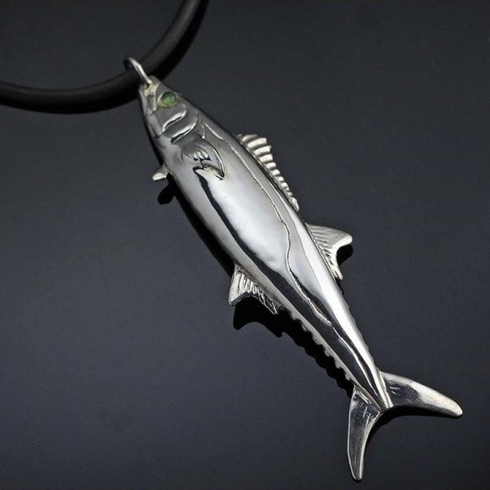 Kingfish Sterling Silver Pendant Necklace | Anisa Stewart Jewelry | ASJs1005