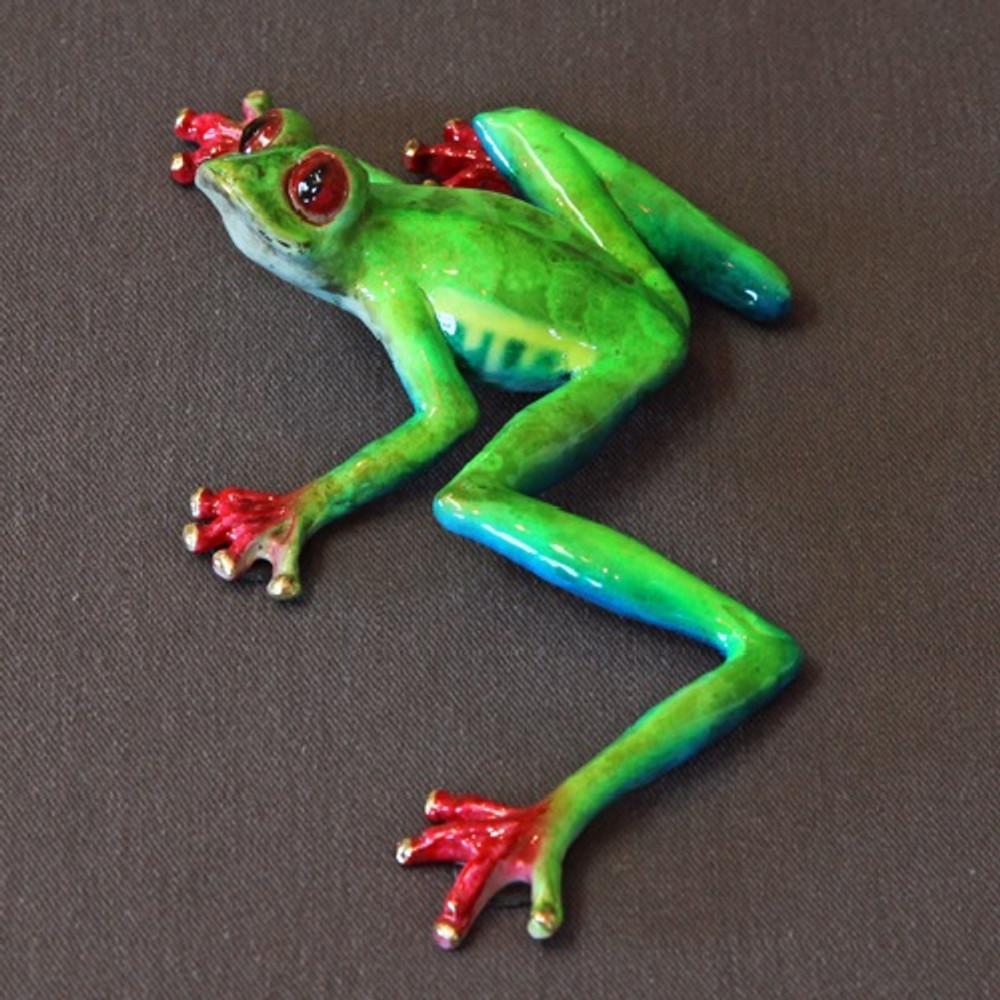 """Frog Bronze Sculpture """"Casanova""""   Barry Stein   BBSCAS1-MCL"""