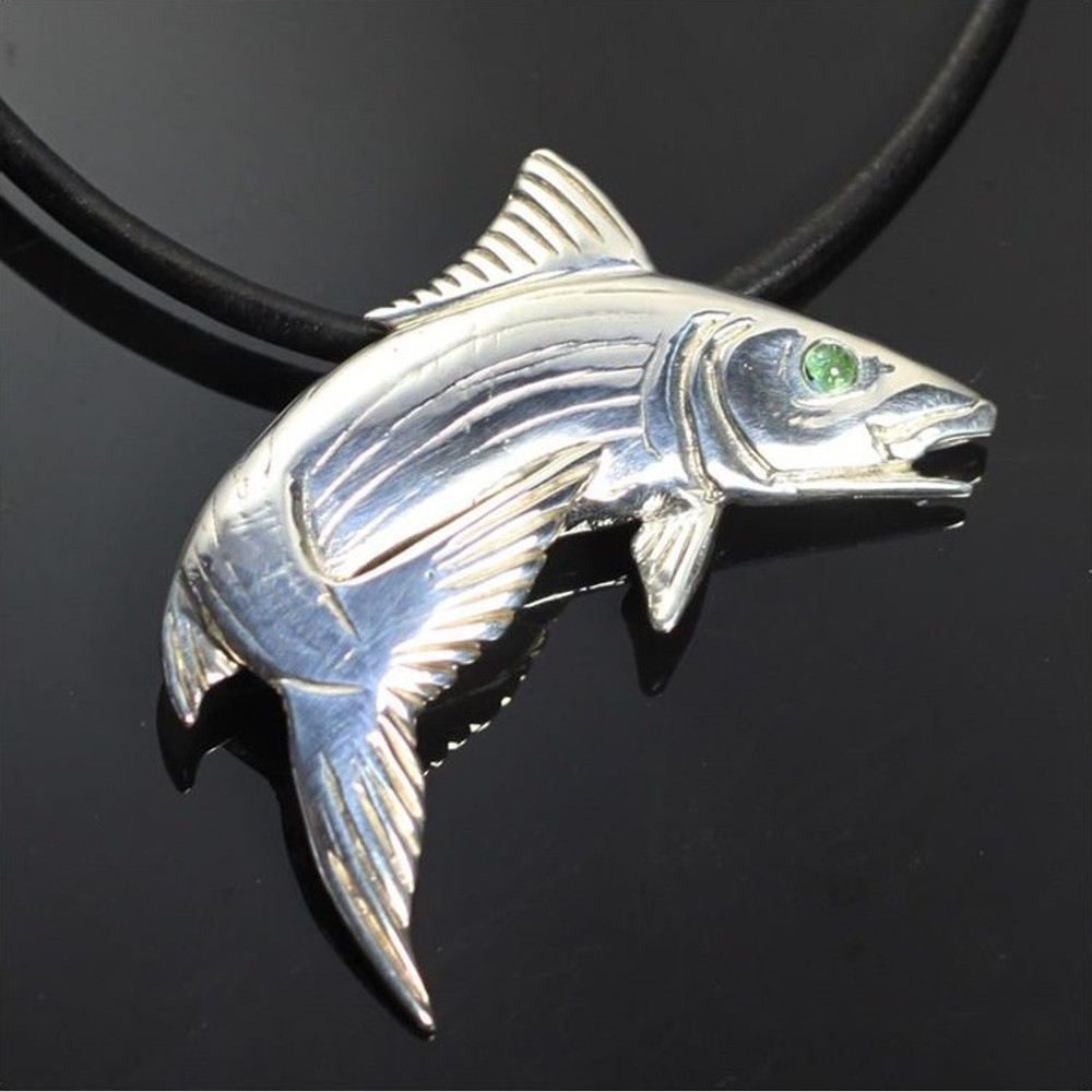 Bonefish Sterling Silver Pendant Necklace | Anisa Stewart Jewelry | ASJs1011