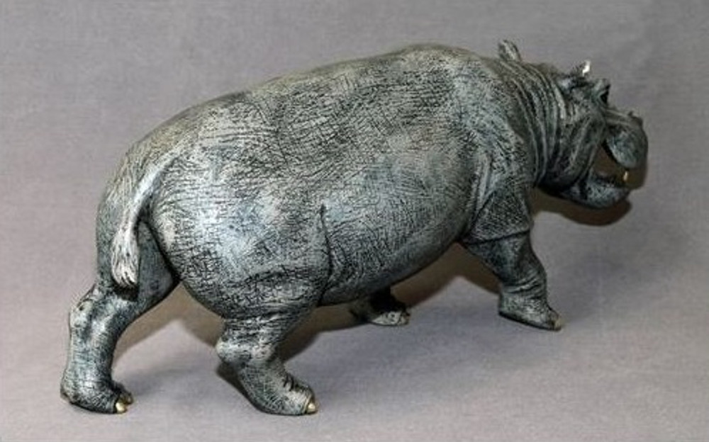 Hippopotamus Bronze Sculpture | Barry Stein | BBSHIP1-H -4
