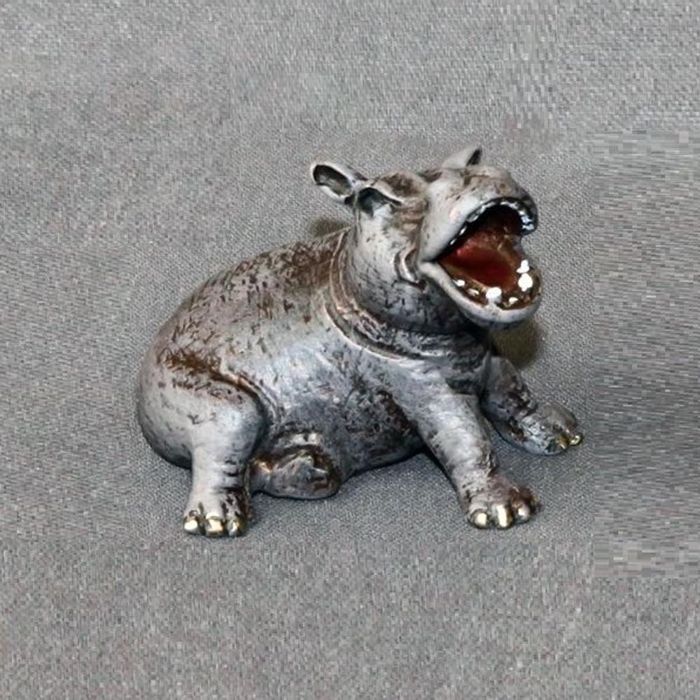 Hippo Baby Bronze Sculpture | Barry Stein | BBSHIPPOBABY
