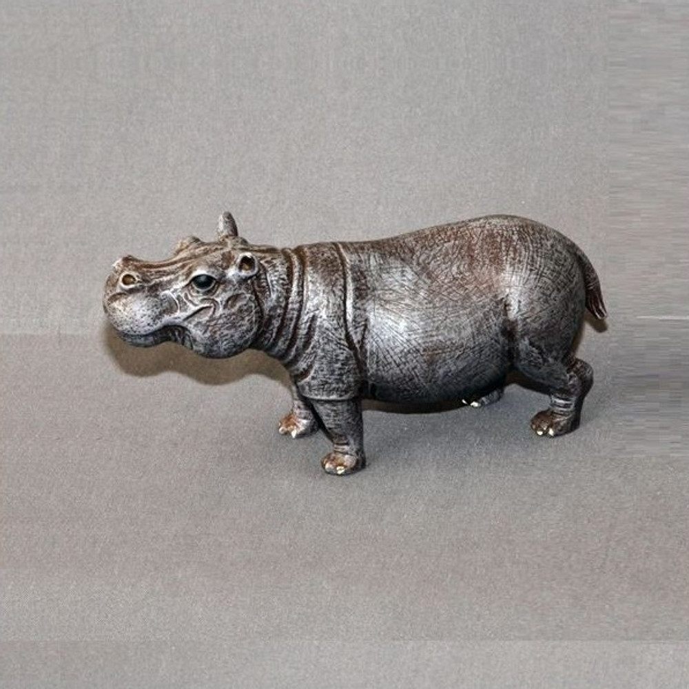 Hippo Bronze Sculpture | Barry Stein | BBSHIPPOSMALL -4