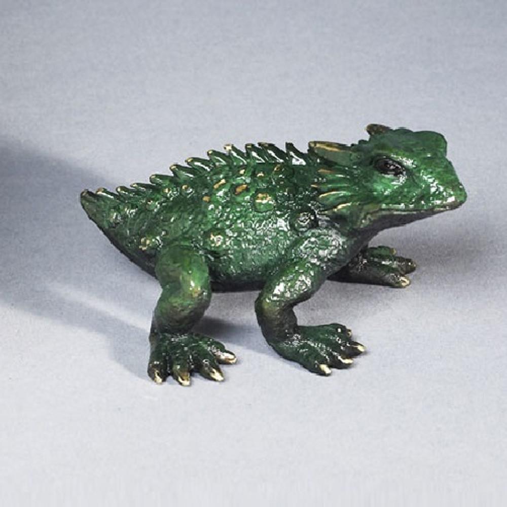 "Frog Bronze Sculpture ""Horned Toad"" | Barry Stein | BBSHOR1-G"