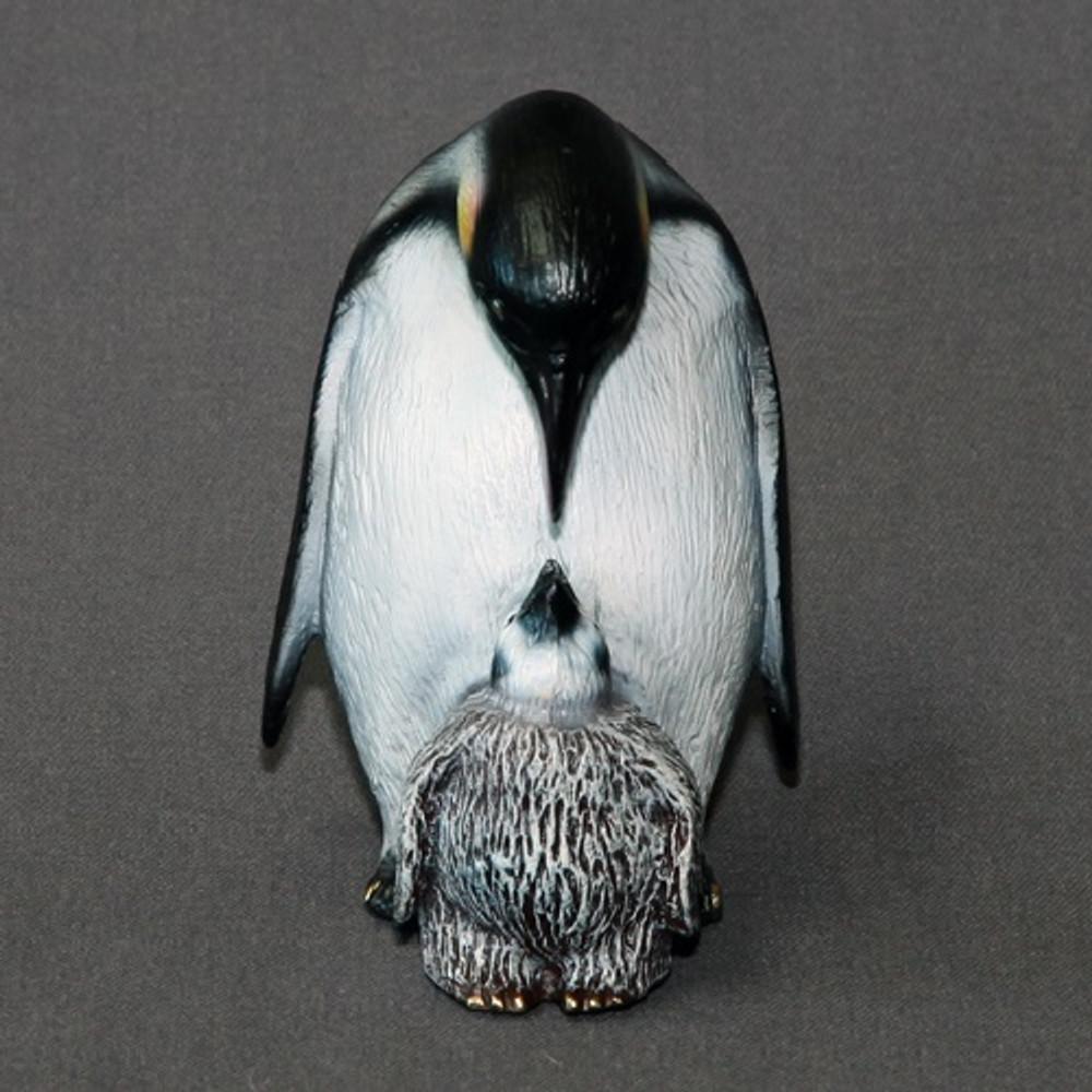Penguin Bronze Mama & Baby Sculpture   Barry Stein   BBSMAM1-MB -2