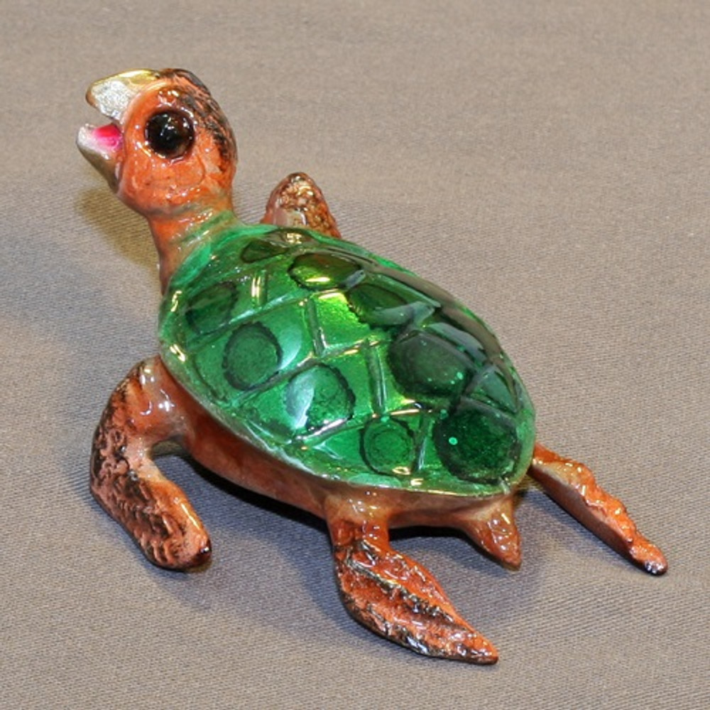 Sea Turtle Bronze Sculpture   Barry Stein   BBSSEA1-GB