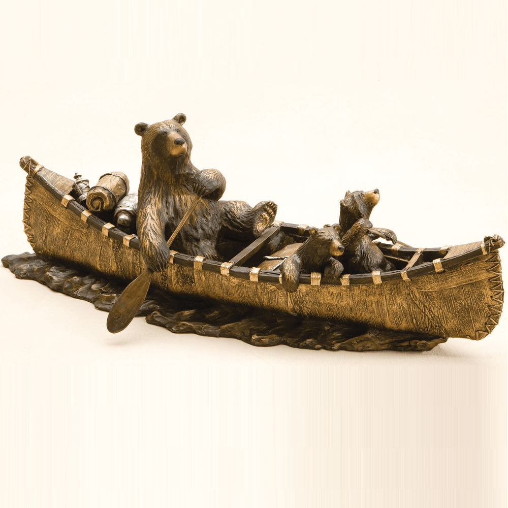 "Bear Sculpture ""Canoe Trip"" | Big Sky Carvers | bsc30149902 -4"