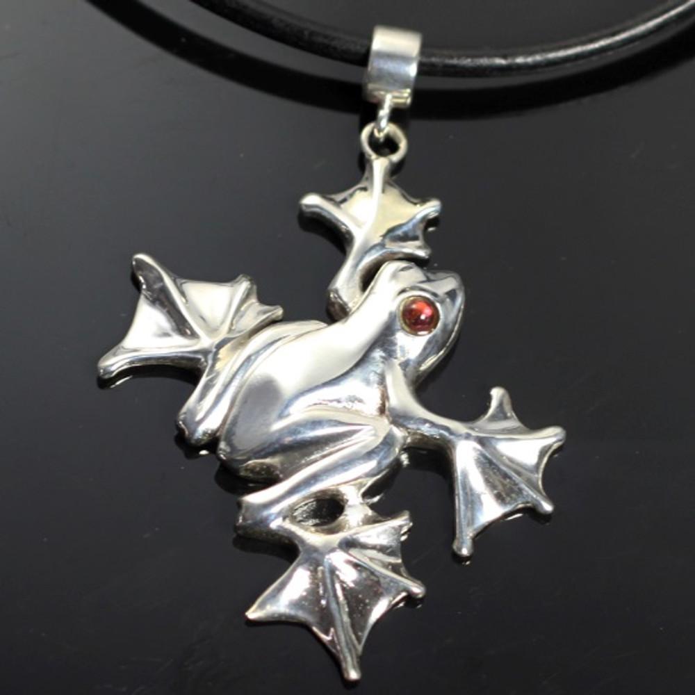 Flying Frog Sterling Silver Pendant Necklace | Anisa Stewart Jewelry | ASJw1003