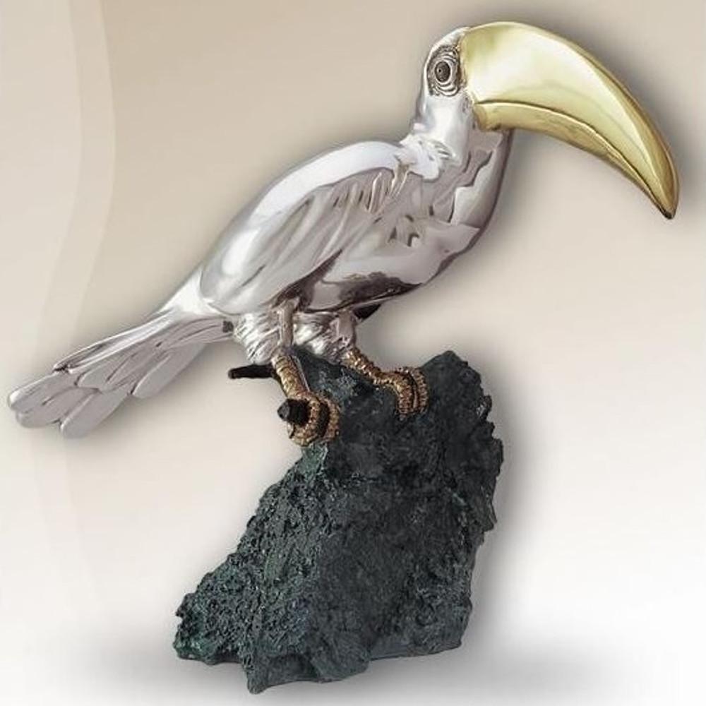 Toucan Silver Plated Sculpture | 2007 | D'Argenta