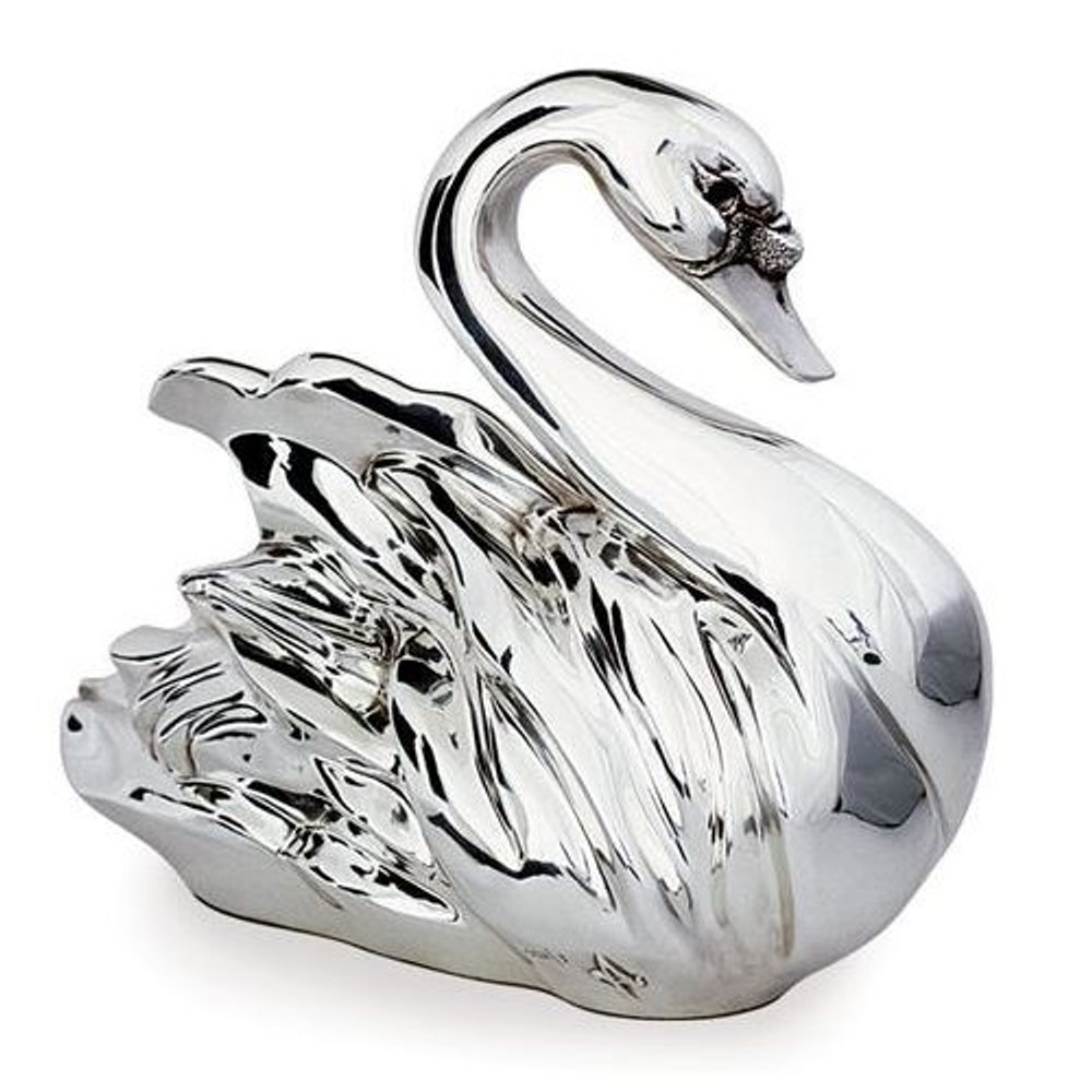 Silver Plated Limited Edition Swan Sculpture | 2010 | D'Argenta