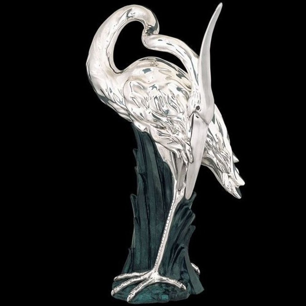 Silver Heron Ltd Edition Sculpture | 2504 | D'Argenta