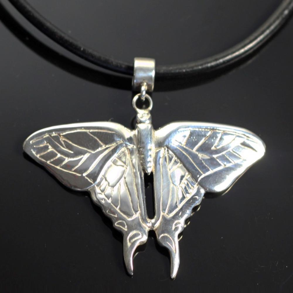 Butterfly Sterling Silver Pendant Necklace | Anisa Stewart Jewelry | ASJw1010