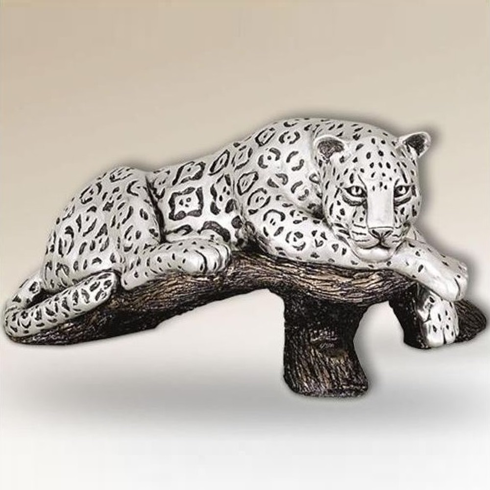 Jaguar on Branch Silver Plated Sculpture | 8018 | D'Argenta