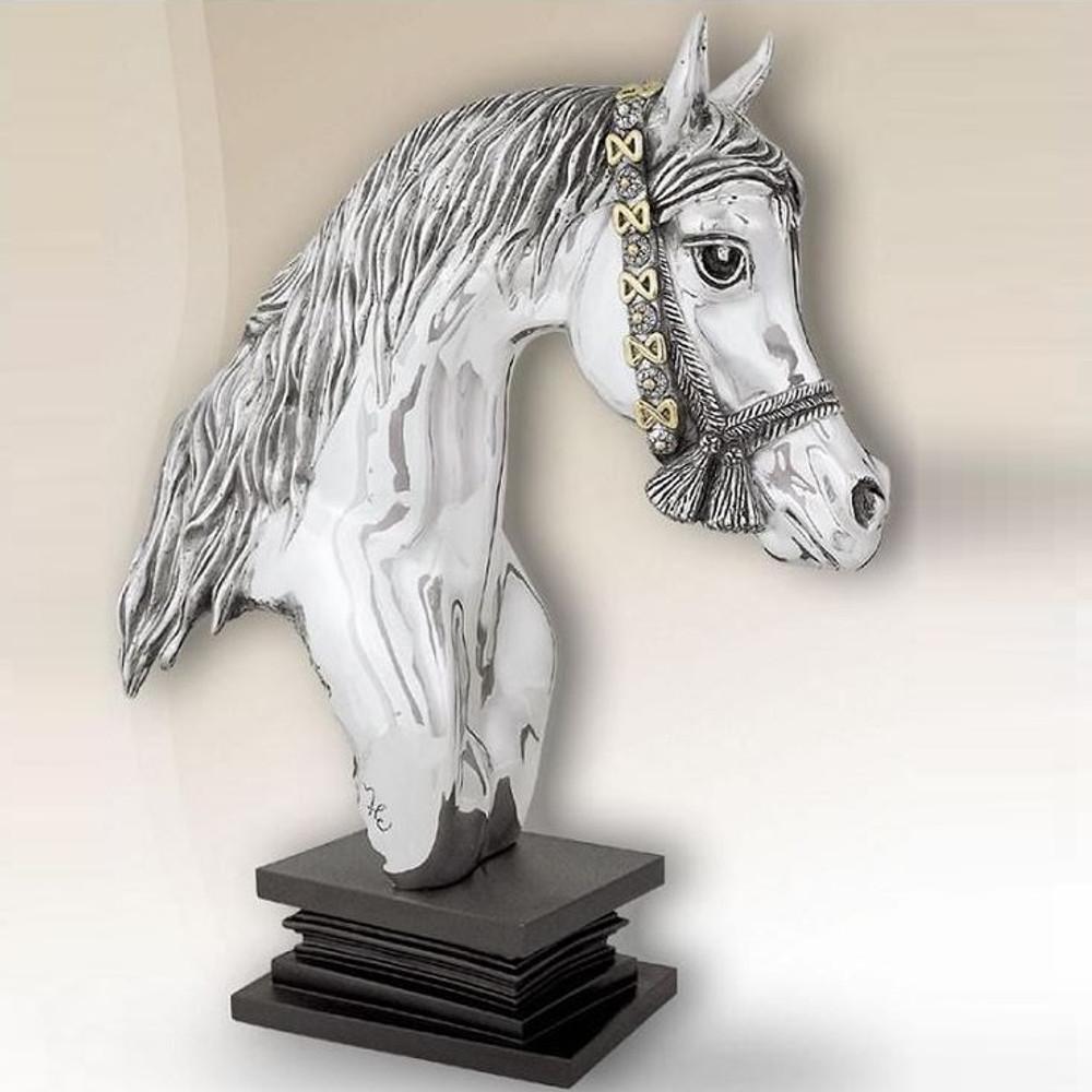 Silver Plated Horse Head Sculpture   8030   D'Argenta