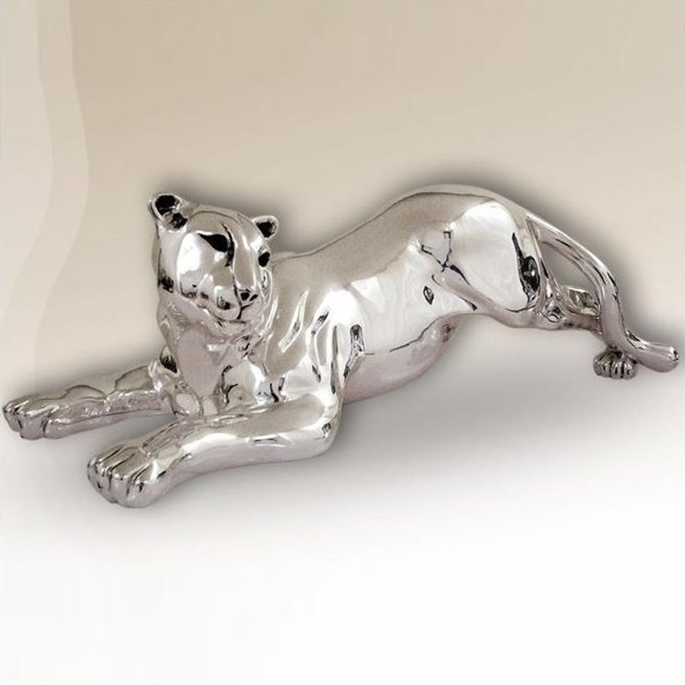 Silver Plated Contemporary Panther Sculpture | 8036 | D'Argenta