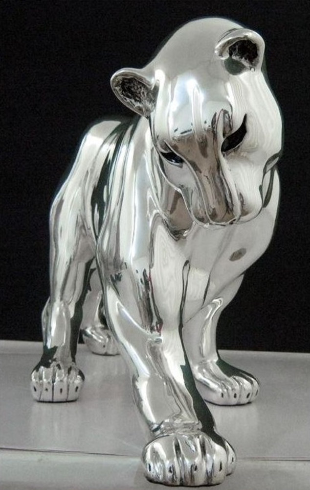 Silver Plated Panther Sculpture | 8037 | D'Argenta -3