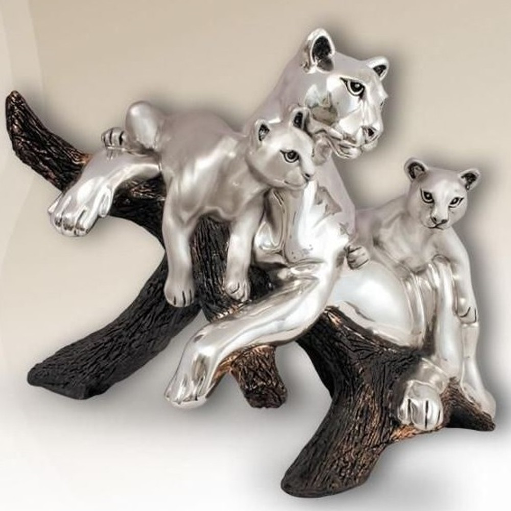 Puma Silver Plated Sculpture | 8039 | D'Argenta
