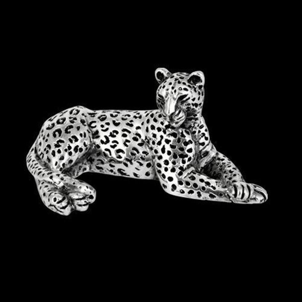 Silver Leopard Sculpture | A502 | D'Argenta