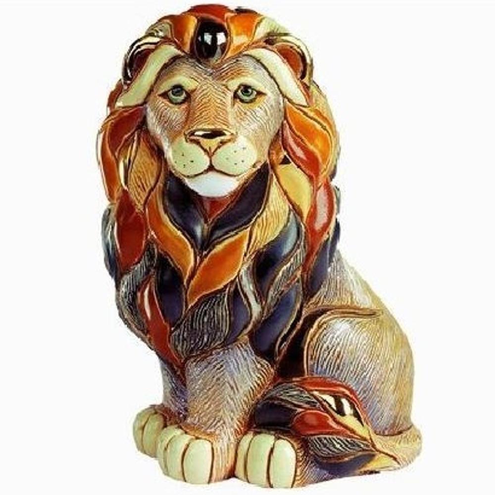 Lion Sitting Ceramic Figurine | De Rosa | Rinconada | DER1008 -3