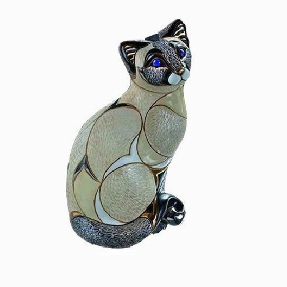 Siamese Cat Ceramic Figurine   De Rosa   Rinconada   DER1016