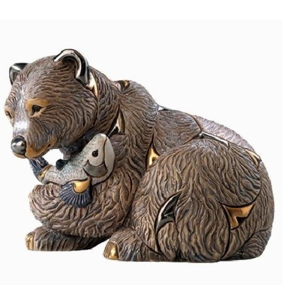 Grizzly Bear Ceramic Figurine   De Rosa   Rinconada   DER1023