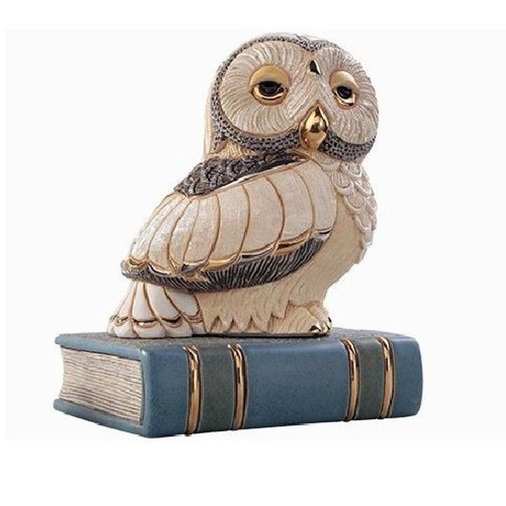 Owl on Book Ceramic Figurine | De Rosa | Rinconada | DER1024