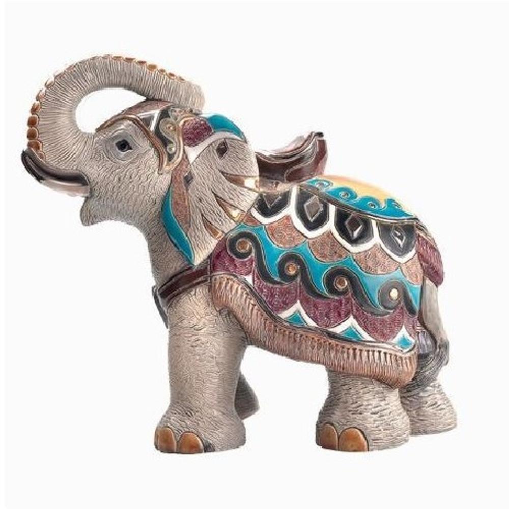 Indian Elephant LTD Edition Ceramic Figurine | De Rosa | Rinconada | DER441O
