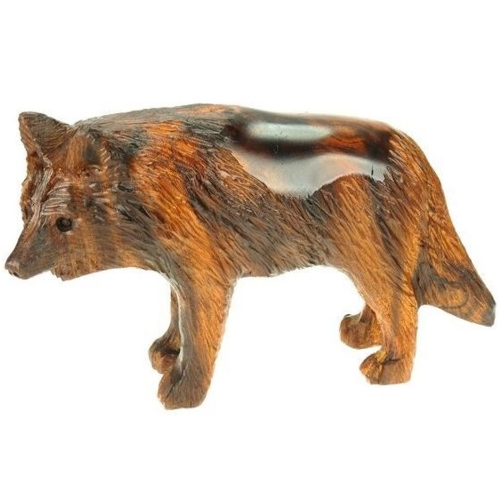 Wolf Ironwood Sculpture | Earthview | EV1327-M