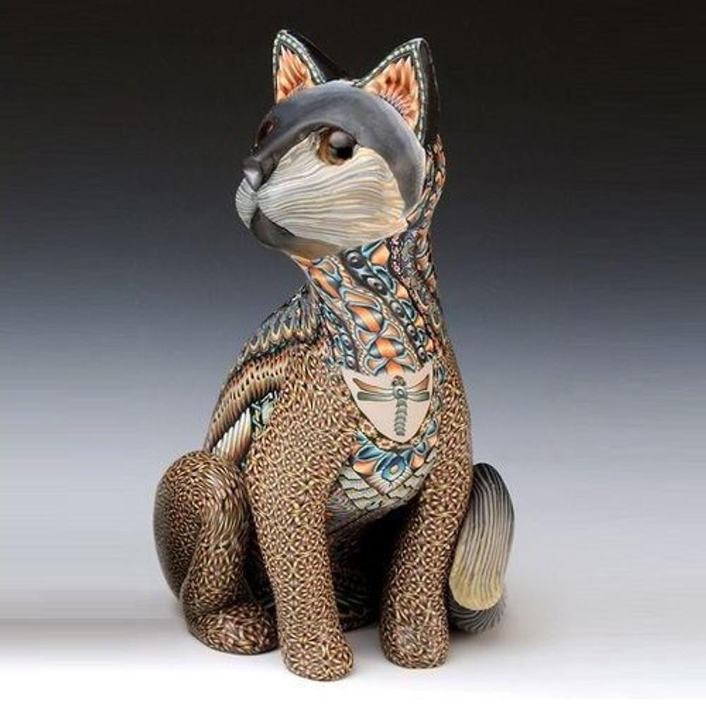 Cat Papa Figurine | FimoCreations | FCfcp