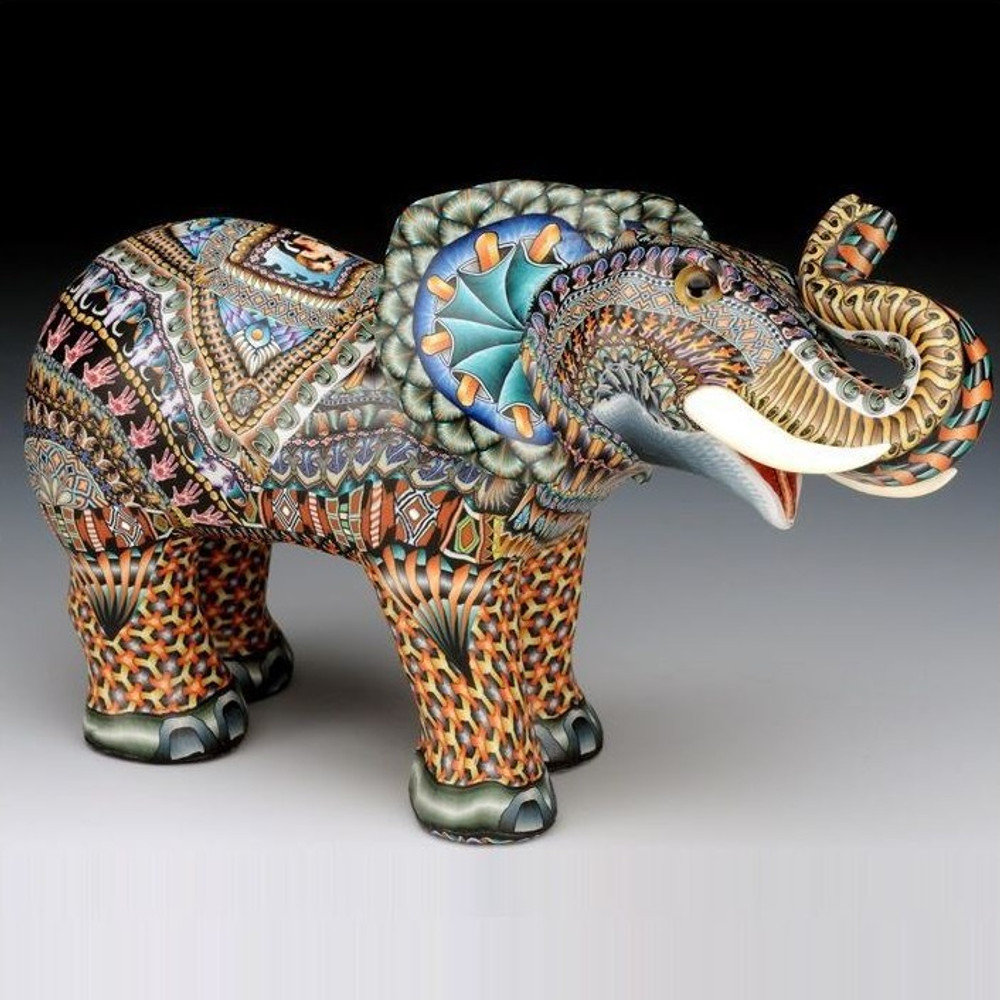 Elephant Papa Figurine   FimoCreations   FCfep