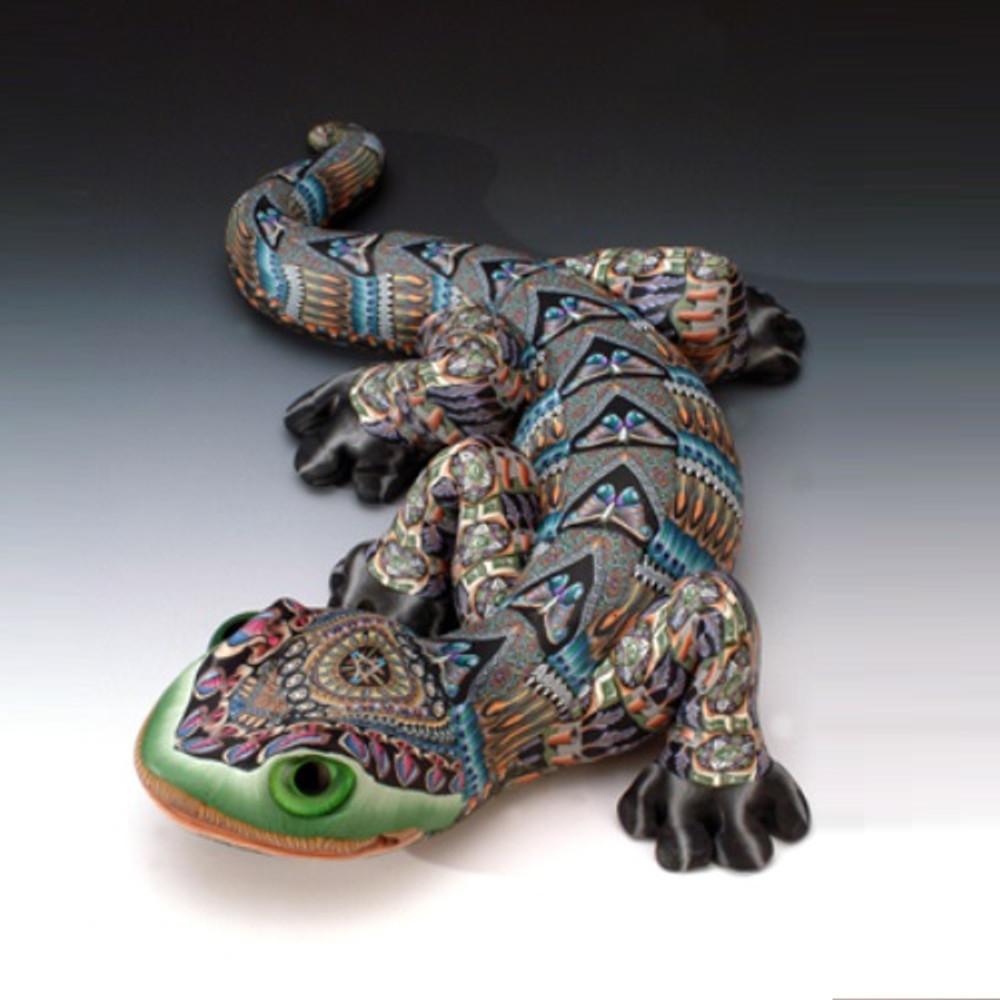 Gecko Papa Figurine | FimoCreations | FCfgp