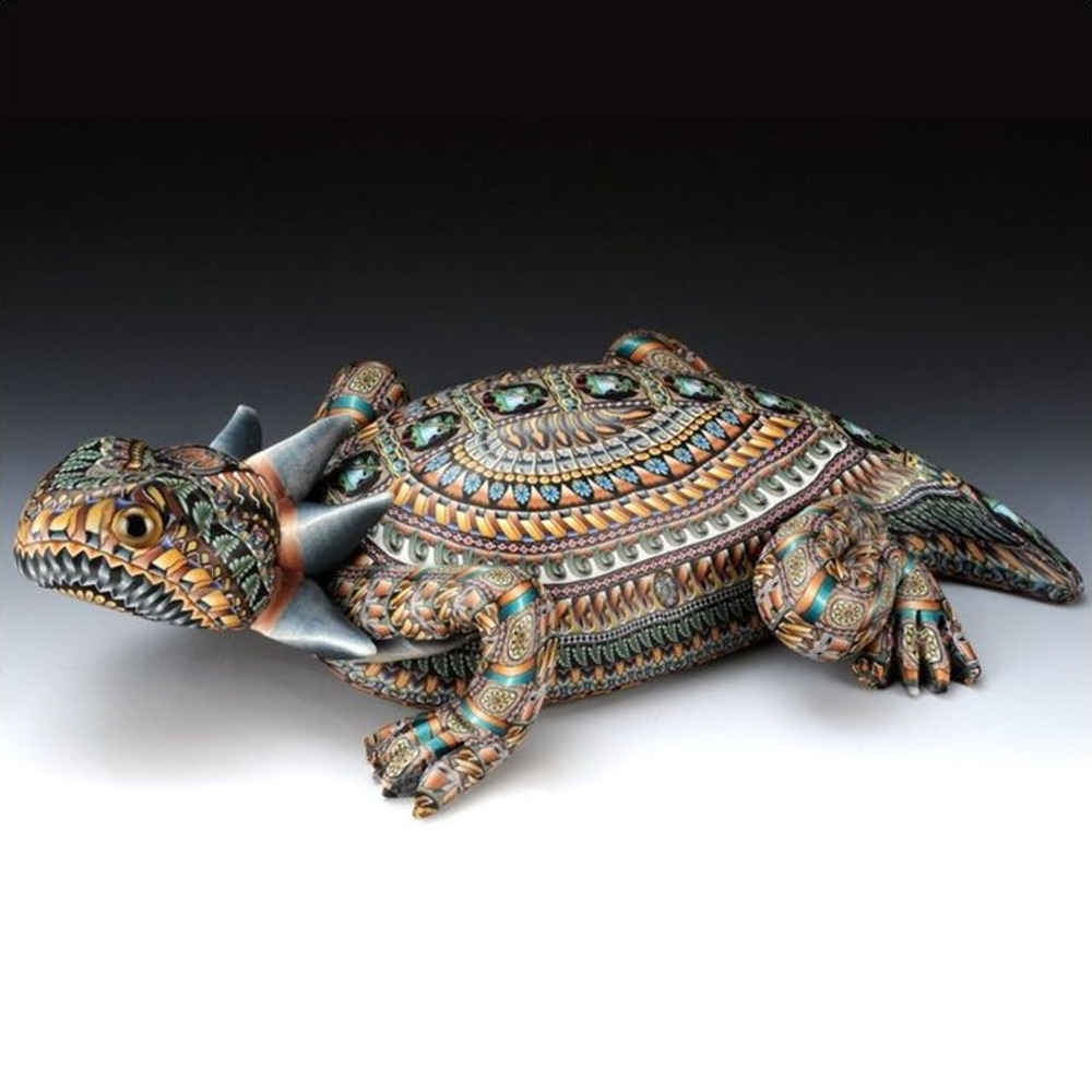Horned Toad Papa Figurine | FimoCreations | FCfhtp