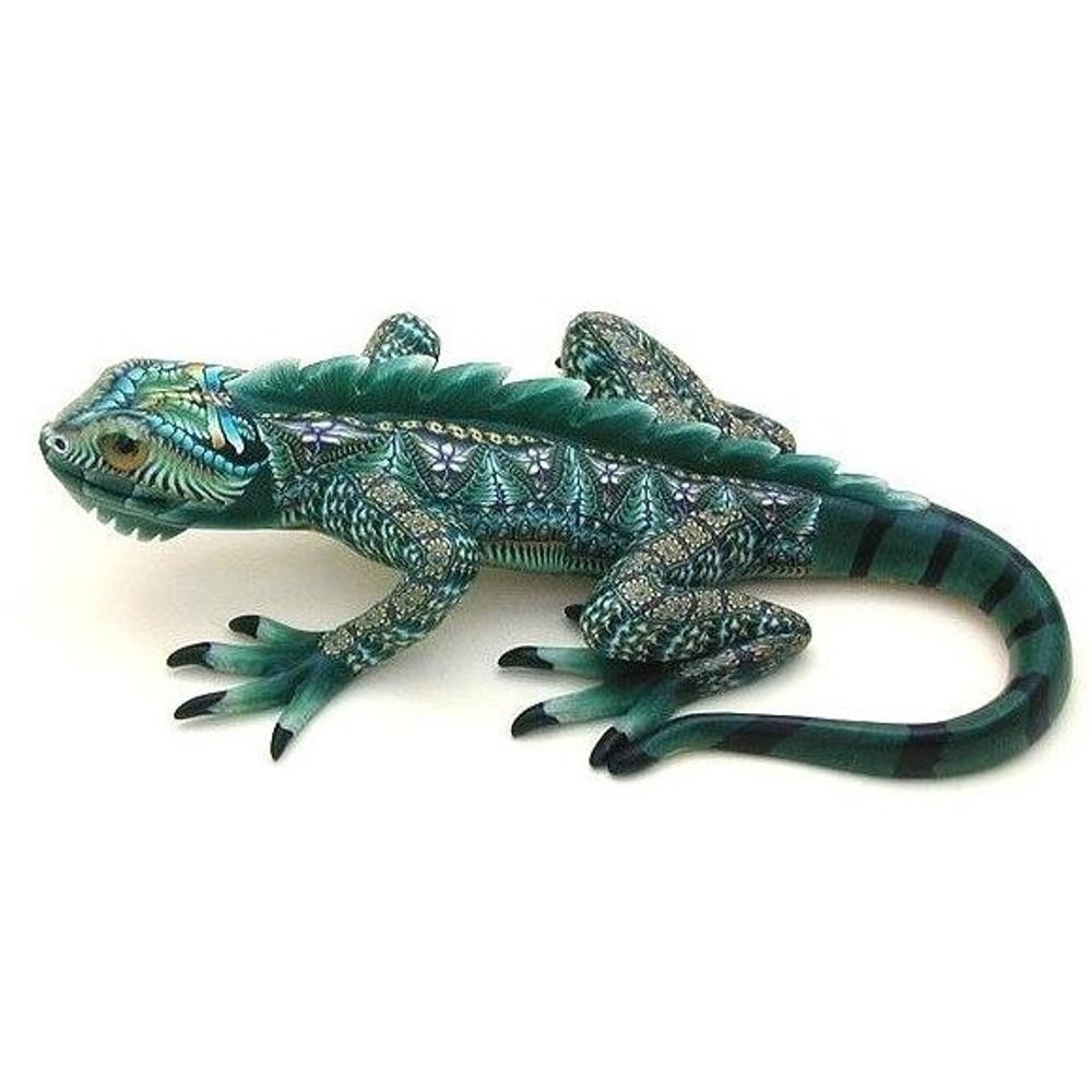 Iguana Jumbo Figurine   FimoCreations   FCFIJ