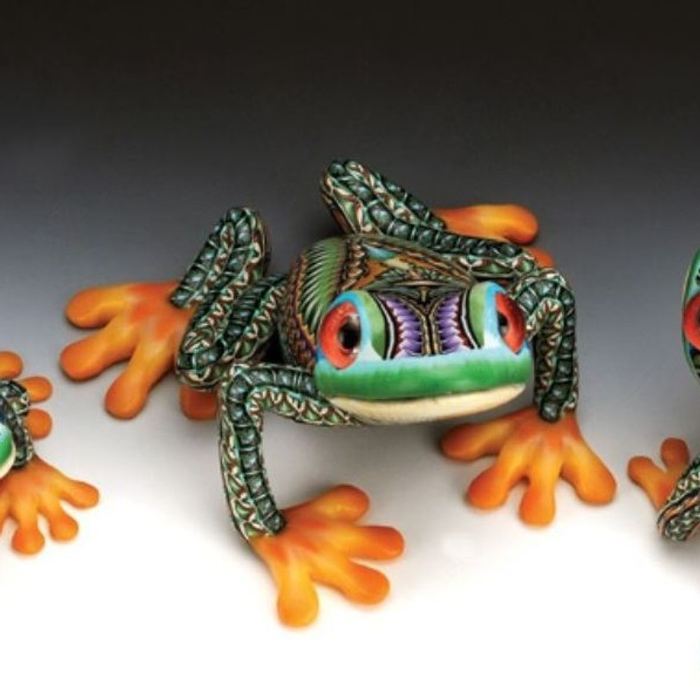 Tree Frog Papa Figurine | FimoCreations | FCFTFP