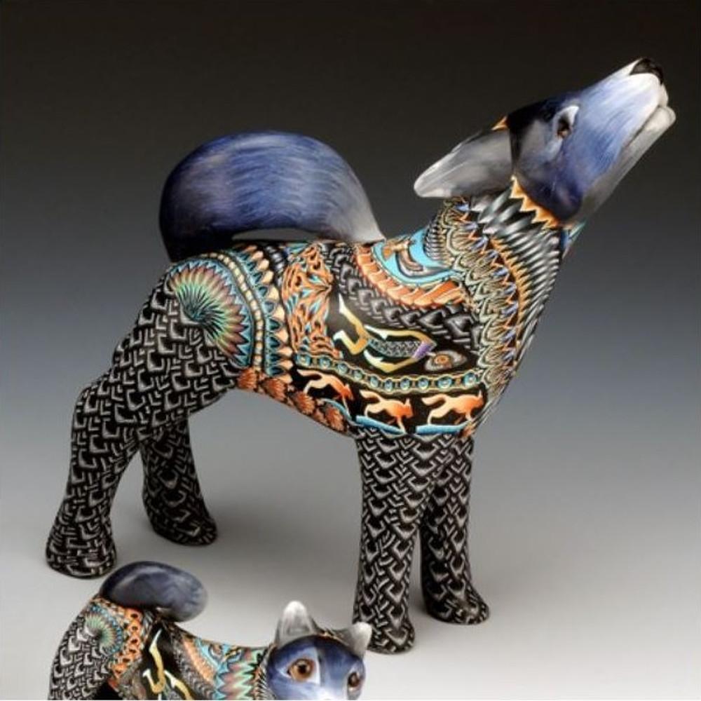 Wolf Papa Figurine | FimoCreations | FCFWPnew