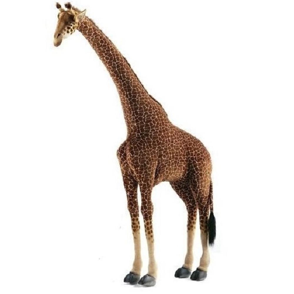 Giraffe Ride-On Plush Animal Statue   Hansa Toys   HTU2652