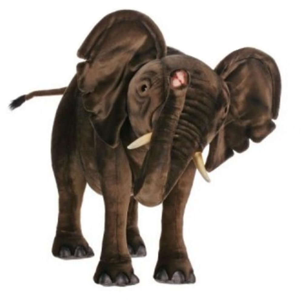 Elephant Ride-On Plush Animal Statue | Hansa Toys | HTU3007