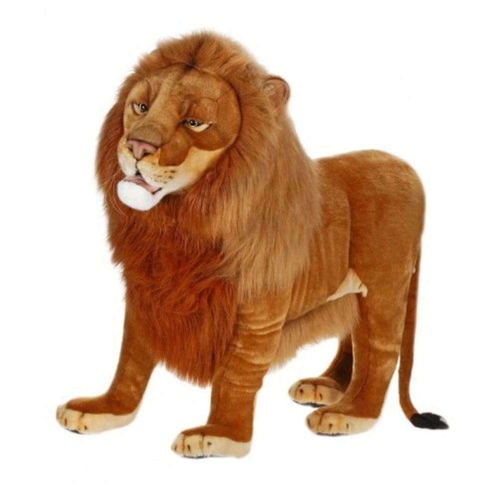 Lion Ride-On Plush Animal Statue | Hansa Toys | HTU4731