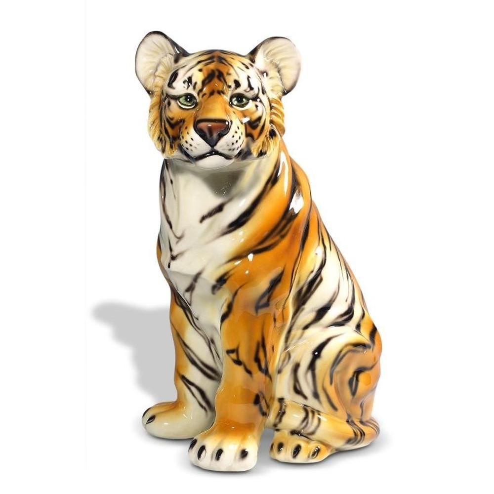 Tiger Safari Ceramic Sculpture   Intrada Italy   INTANI2319