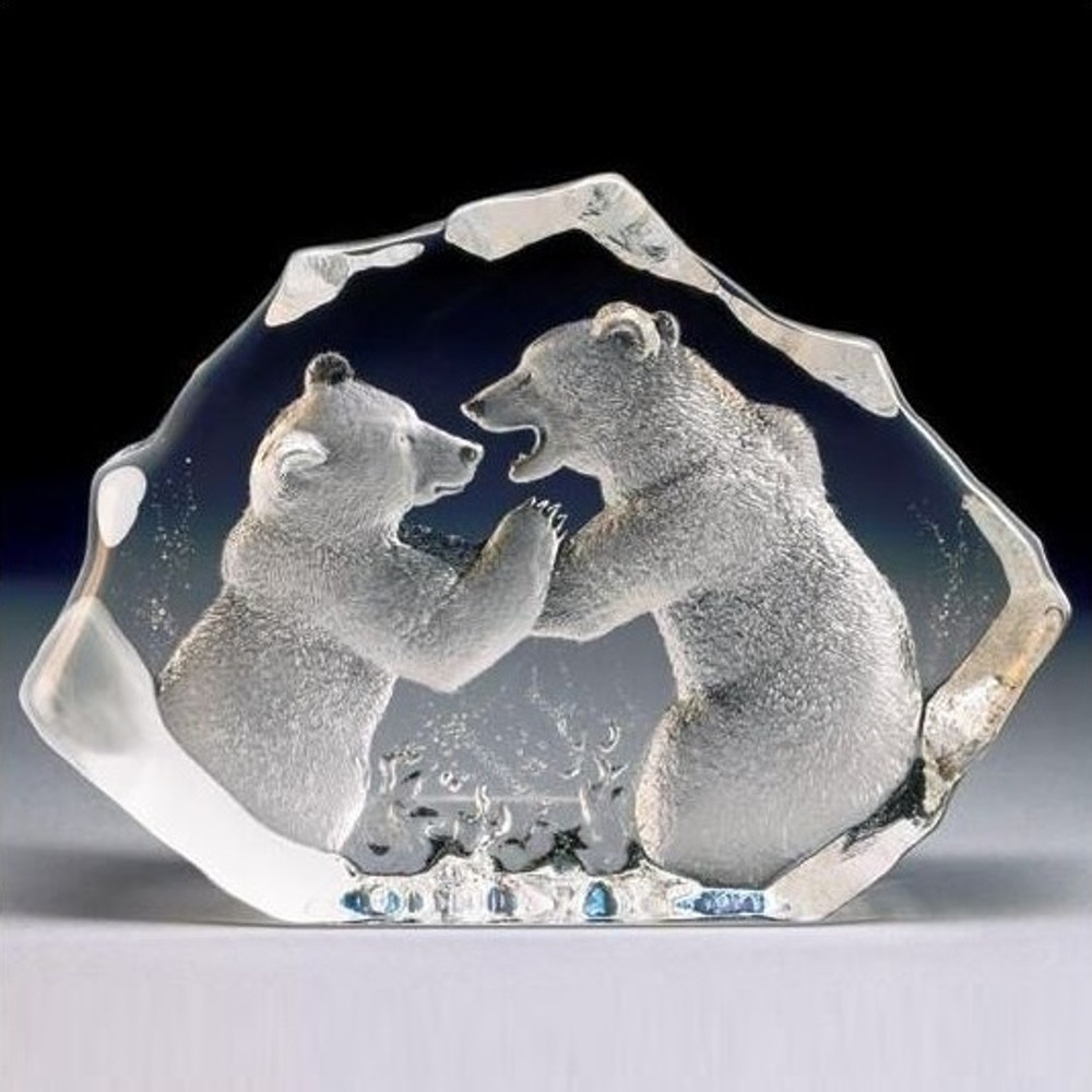 Bears LTD ED Crystal Sculpture | 13306 | Mats Jonasson Maleras
