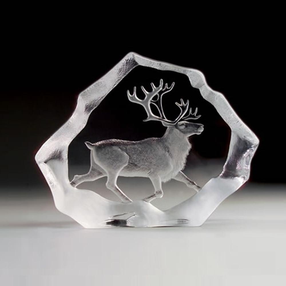 Reindeer LTD ED Crystal Sculpture | 33126 | Mats Jonasson Maleras