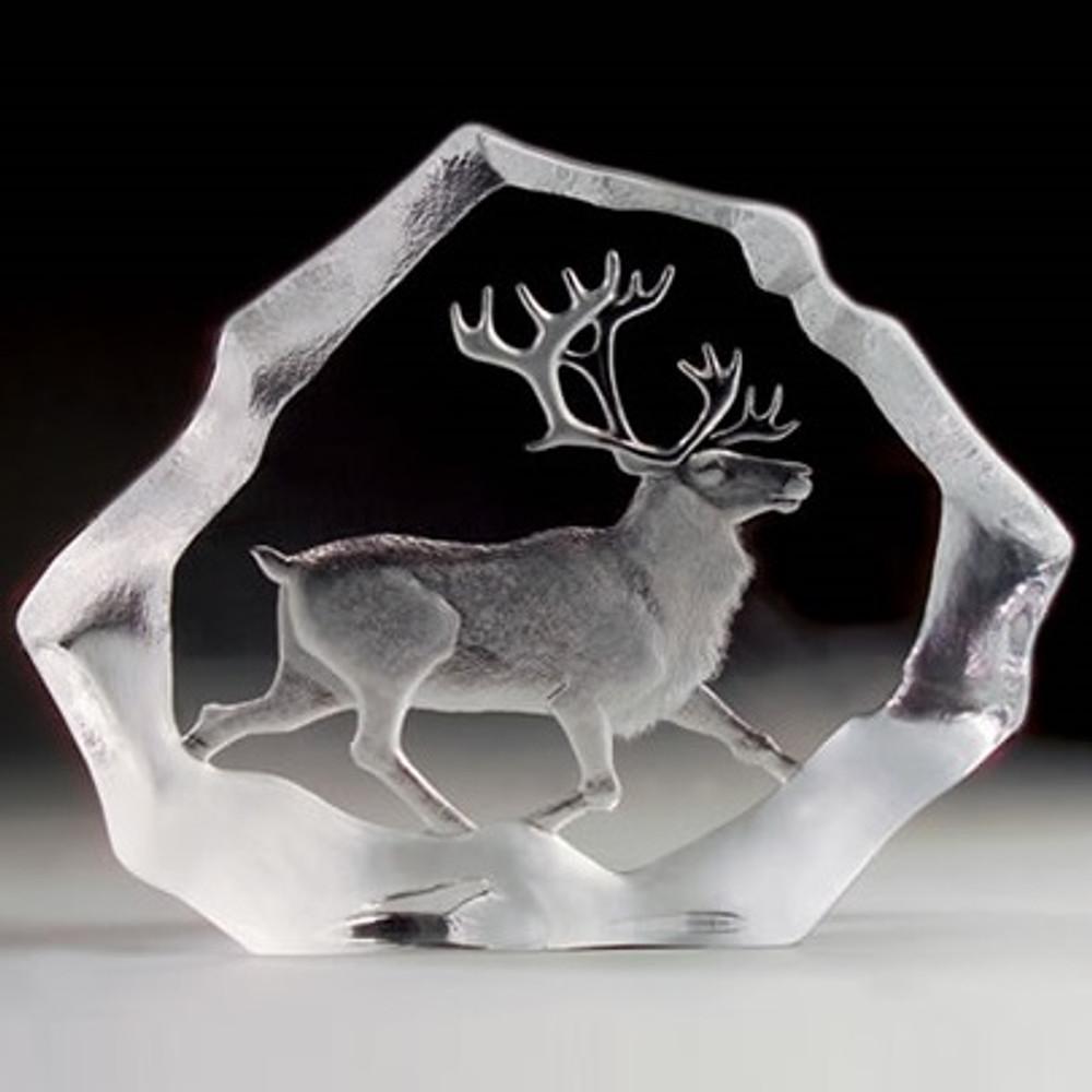 Reindeer LTD ED Crystal Sculpture | 33126 | Mats Jonasson Maleras -2