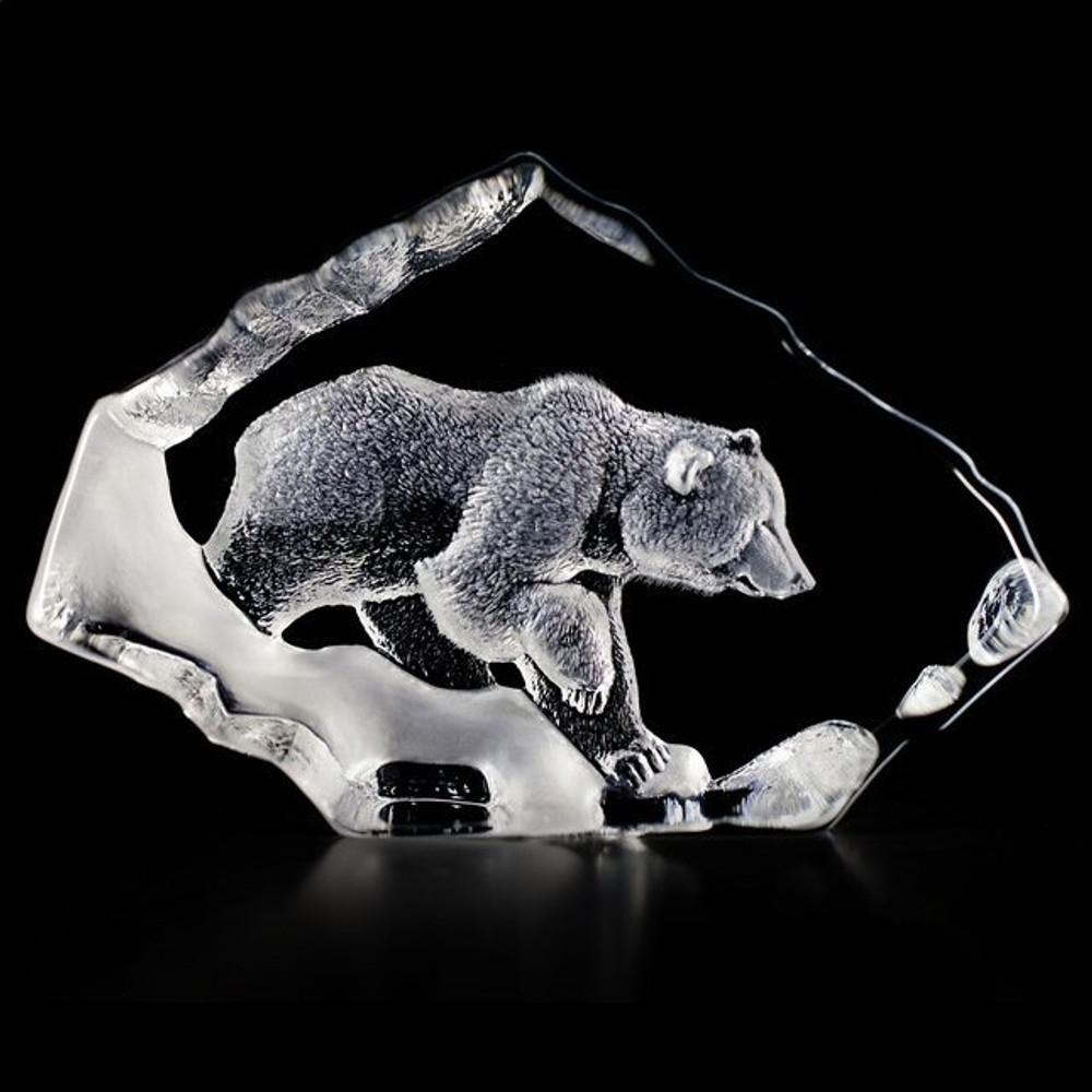 Grizzly Bear Crystal Sculpture | 33607 | Mats Jonasson Maleras