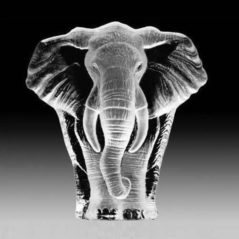 Elephant Crystal Sculpture | 33664 | Mats Jonasson Maleras